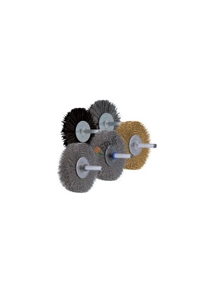Brosses rotatives industrielles, plates, sur tige.