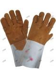 Gants de protection contre la chaleur, en cuir.