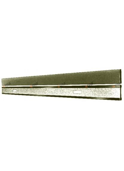 Régles à tracer de précision en acier, sans division en mm.